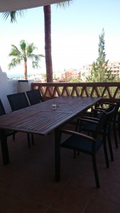 eettafel balkon