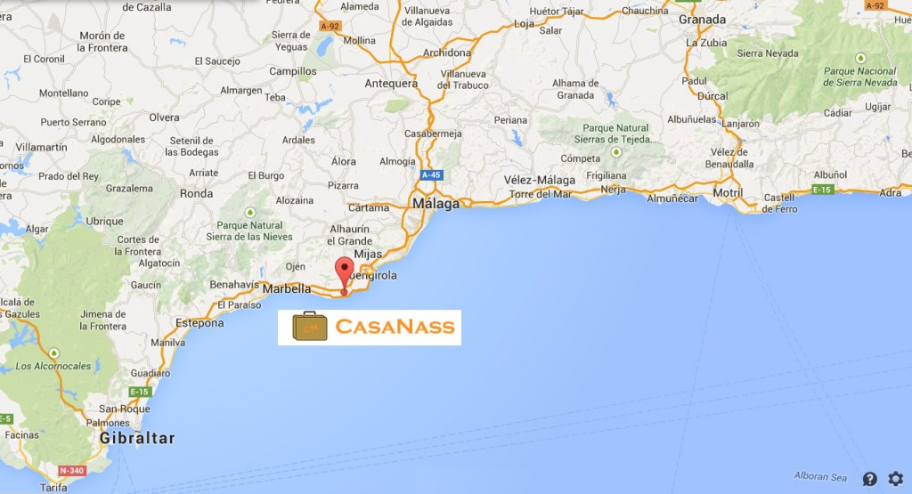 map casanass location